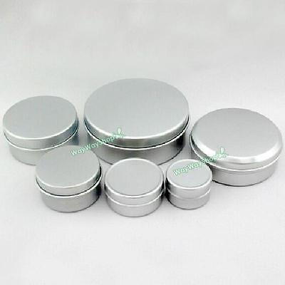 Empty Cosmetic Pots Lip Balm Container Jar Aluminum Tins 5ml 10ml 20ml 30ml 50ml