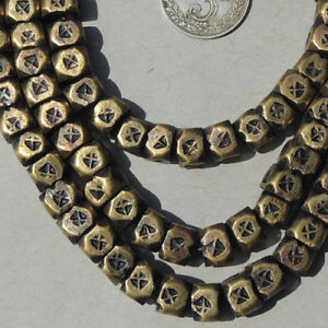 22-5-inch-57-cm-strand-brass-beads-tuareg-mali-niger-41