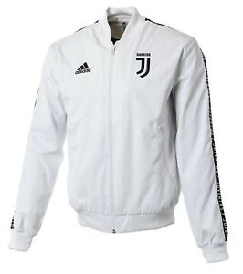 competitive price ba6a4 e4543 Details about Adidas Men Juventus FC Anthem Training Jacket Soccer White  Shirts Jackets DP3923