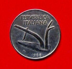 Italien 10 Lire 1968 - Krefeld, Deutschland - Italien 10 Lire 1968 - Krefeld, Deutschland