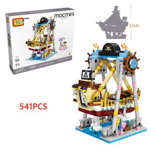 Bausteine LOZ1717 Vergnügungspark Serie Piratenschiff Mini Spielzeug 541PCS OVP