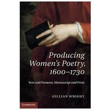 Producing Womens Poetry, 1600-1730