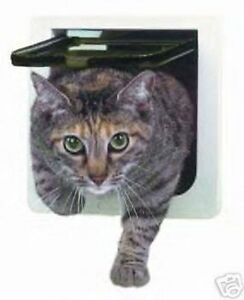 NIB Ideal 4 WAY LOCKABLE Cat Small Dog Pet Interior Exterior Door Flap