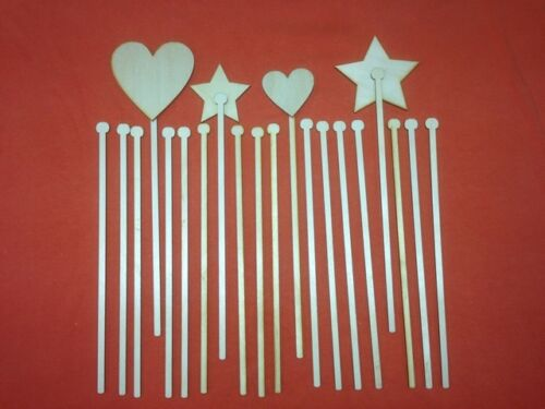 20 STICKS for WAND CRAFT FOR WOODEN WAND PLAIN UNPAINTED SHAPES HOME DECOR