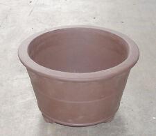 "Round Zisha Bonsai Pot Shohin Mame Dwarf Planter 6.5""x4.25"""