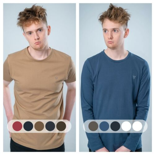 STONE VALLEY Baxter Long /& Manches Courtes 100/% coton tee-shirt Homme