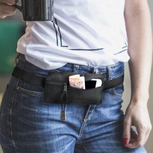 Aimable Travel Waist Money Belt Wallet I Phone Zipped Security Iléostomie Discreet Bum Bag-afficher Le Titre D'origine Beau Travail