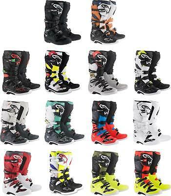 12 Alpinestars Tech 7 Mens Cyan//Black//Red Motocross Boots