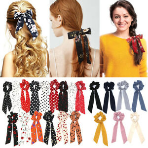 Accessories-Elastic-Hair-Rope-Floral-Bow-Scrunchie-Hair-Bow-Ties-Ponytail-Scarf