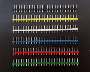 10pcs 40-pin en-tête broches 2.54 mm Breakaway Male for Breadboard 1x40 Single Row-afficher le titre d`origine Ycuhnjoa-07135458-993238635