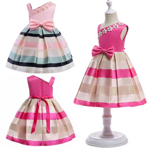 Kids Girls Princess Flower Dress Wedding Bridesmaid Party Pageant Gown Summer