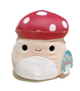 "Squishmallows Kellytoy Food  Mix B 8"" Malcolm the Mushroom Soft Plush Toy"