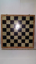 Handmade 12x12 Soapstone & Wood Chess Board Carved Stone Pieces, Hinged+ Storage