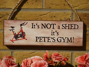 Personalised gym sign shed sign garage sign funny sign gym equipment