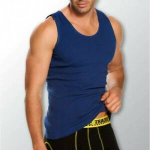 Mens-2-Pack-Tradie-3-6XL-Pure-Cotton-Tank-Singlets-Blue-Work-or-Leisure-9SC