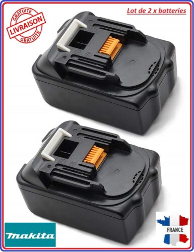 Lot de 2 X Batterie pour MAKITA BL1840 18 V 4.0 Ah outil sans fil  BL1830 Bl850