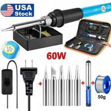 Electric Soldering Iron Tool Kit 60w Welding Gun Desoldering Pump Wire Station
