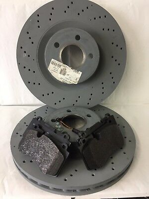 Genuine Mercedes-Benz W221 S-Class AMG Sport Front Discs /& Pads Kit NEW