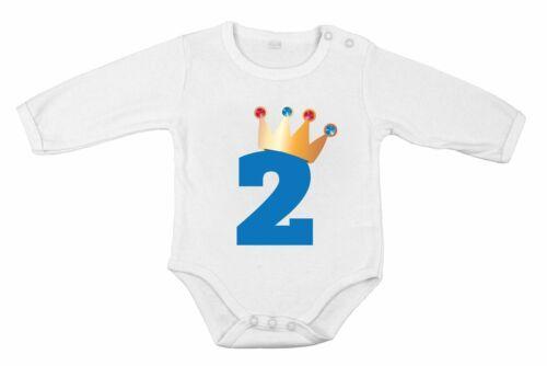 second Birthday Baby Boy ROMPER Newborn Romper Bodysuit King idea gift for him