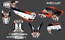 KIT ADESIVI GRAFICHE BLACK GAMBLING KTM EXC 125 200 250 300 2008 2009 2010 2011