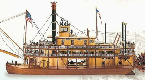 Artesania Latina 1 80 80 80 King of the Mississippi wooden boat kit   20505 c1e