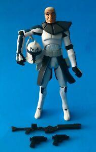 "STAR Wars Clone Wars Clone Trooper Capitano Rex in Snow Gear Loose 3.75/"" pollici"