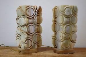 lamps 1960s alabaster lámparas alabastro de de vintage Pareja table Detalles dBroxeC
