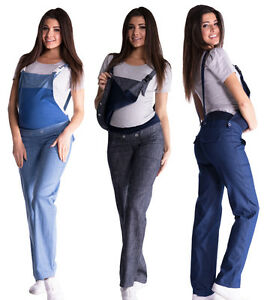 9b7f0e7d2cb88 Image is loading Maternity-Trousers-Jeans-Dungarees-Denim-Over-Bump-size-