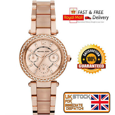 *NEW* Michael Kors Ladies Rose Gold MINI PARKER Watch MK6110 -Gift For Her -
