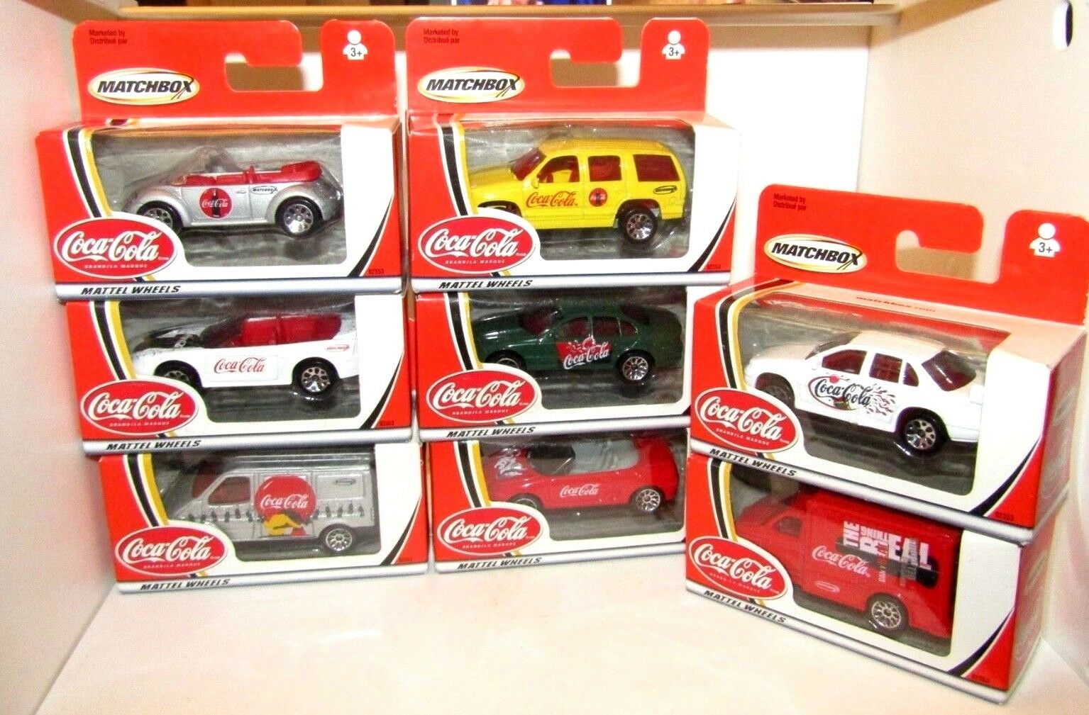 Matchbox Superfast 2002 Coca Cola Cola Cola Cars x 8 All Different MIB 74ce10