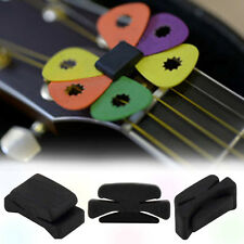 2x Wedgie Bass Guitar Headstock Pick Holder Rubber Pick Headstock Guitar RW