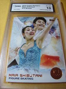 2014 TOPPS OLYMPIC MAIA SHIBUTANI RELIC CARD ~ FIGURE SKATING