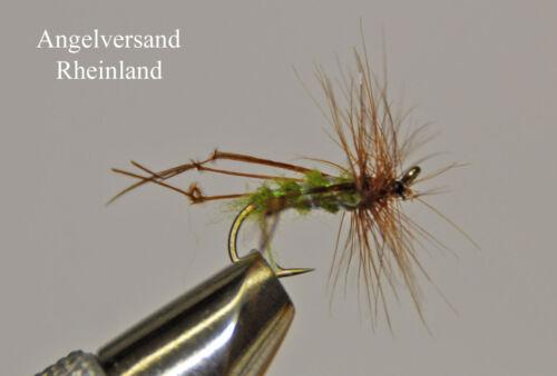 3 Hopper oliv gerippt Hakengröße #10-14 wählbar by Angelversand Rheinland
