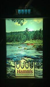VINTAGE HAMM'S ELECTRIC LIGHT BEER SIGN LANTERN CANOE ST. PAUL MINNESOTA MN BEAR
