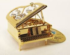 3239 Klavier, Piano, gold plattiert, mit Swarowski Steinen