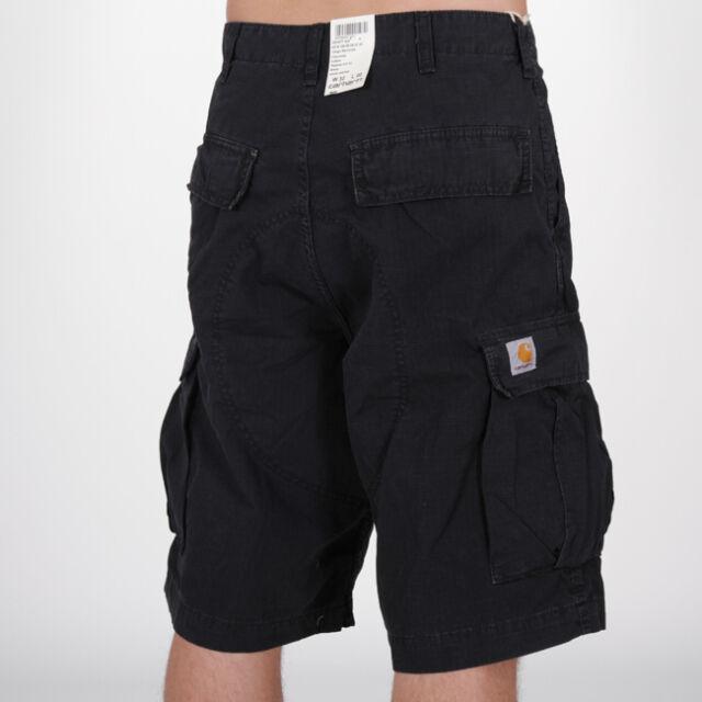 218894a05d770 Carhartt WIP Cargo Bermuda Shorts Ripstop Black Herren Cargoshorts Schwarz