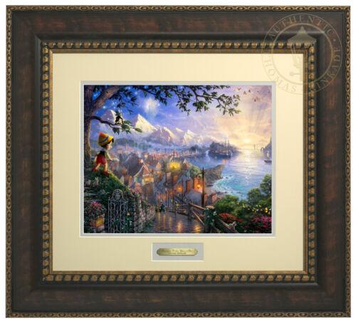 Thomas Kinkade Disney Pinocchio Wishes Upon a Star Prestige Home Collection
