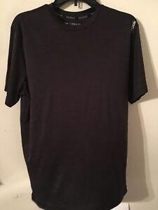 Genteel Reebok Men's Athletic Short Sleeve Work Out Medium Black/grey Activewear Tops Activewear