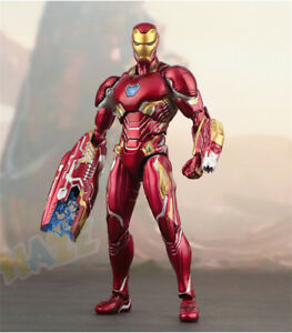 SHF-S-H-Figuarts-Marvel-Avengers-Infinity-War-6-034-Iron-Man-MK50-PVC-Figure-New