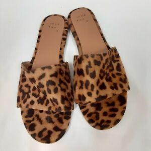 Tan Leopard Print Flat Sandals   eBay