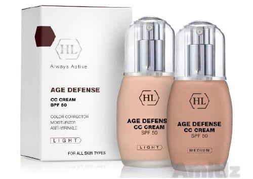 HL HOLY LAND Age Defense CC Cream SPF 50 LIGHT 50ml / 1.7oz