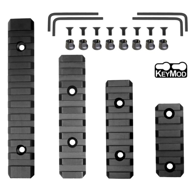 2PCS 7 Slot 3 inch Keymod Handguard Rail Section Picatinny Weaver Aluminum