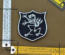 "Ricamata / Embroidered Patch Devgru ""Lion Skeleton"" with VELCRO® brand hook"