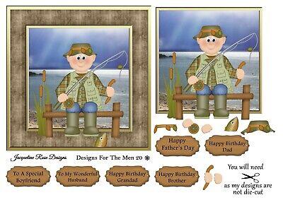 Designs For The Men 08 Decoupage 1 x A4 Sheet NOT DIE-CUT