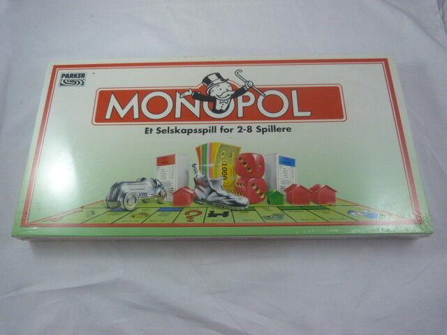 Boardgame  MONOPOL  1993 parker  norwegian version   nouveau & SEALED  économiser 50% -75% de réduction