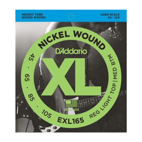 D/'Addario ESXL165 Double Ball End Nickel Wound Bass Guitar Strings .045 .105
