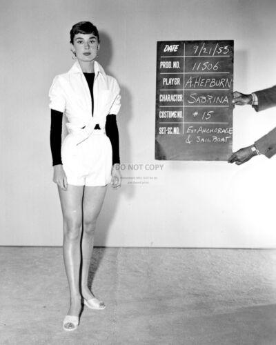 "RT195 8X10 PHOTO AUDREY HEPBURN WARDROBE TEST FOR THE FILM /""SABRINA/"""