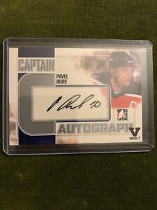 2011-Leaf-ITG-Captains-Series-AUTO-PAVEL-BURE-Vancouver-Canucks-Florida-Panth