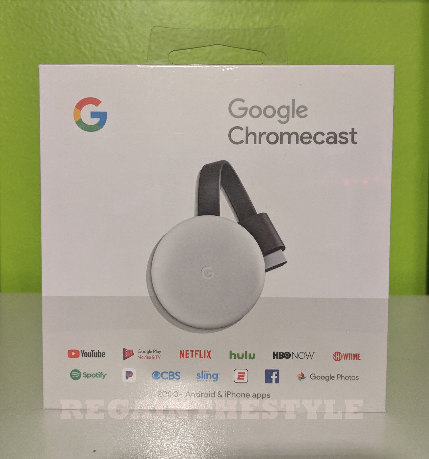 s-l1600 Google - Chromecast 3rd Generation Streaming Media Player - Chalk Grey