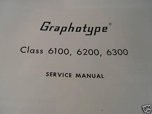 Addressograph G1 6100 G2 6200 G3 6300  Repair Manual